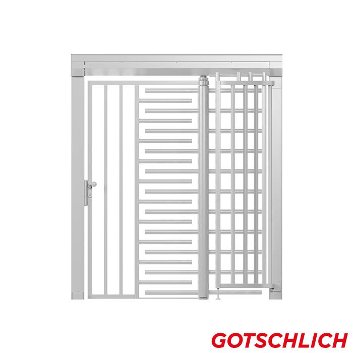 Drehkreuz ECCO Kombiblock frontansicht